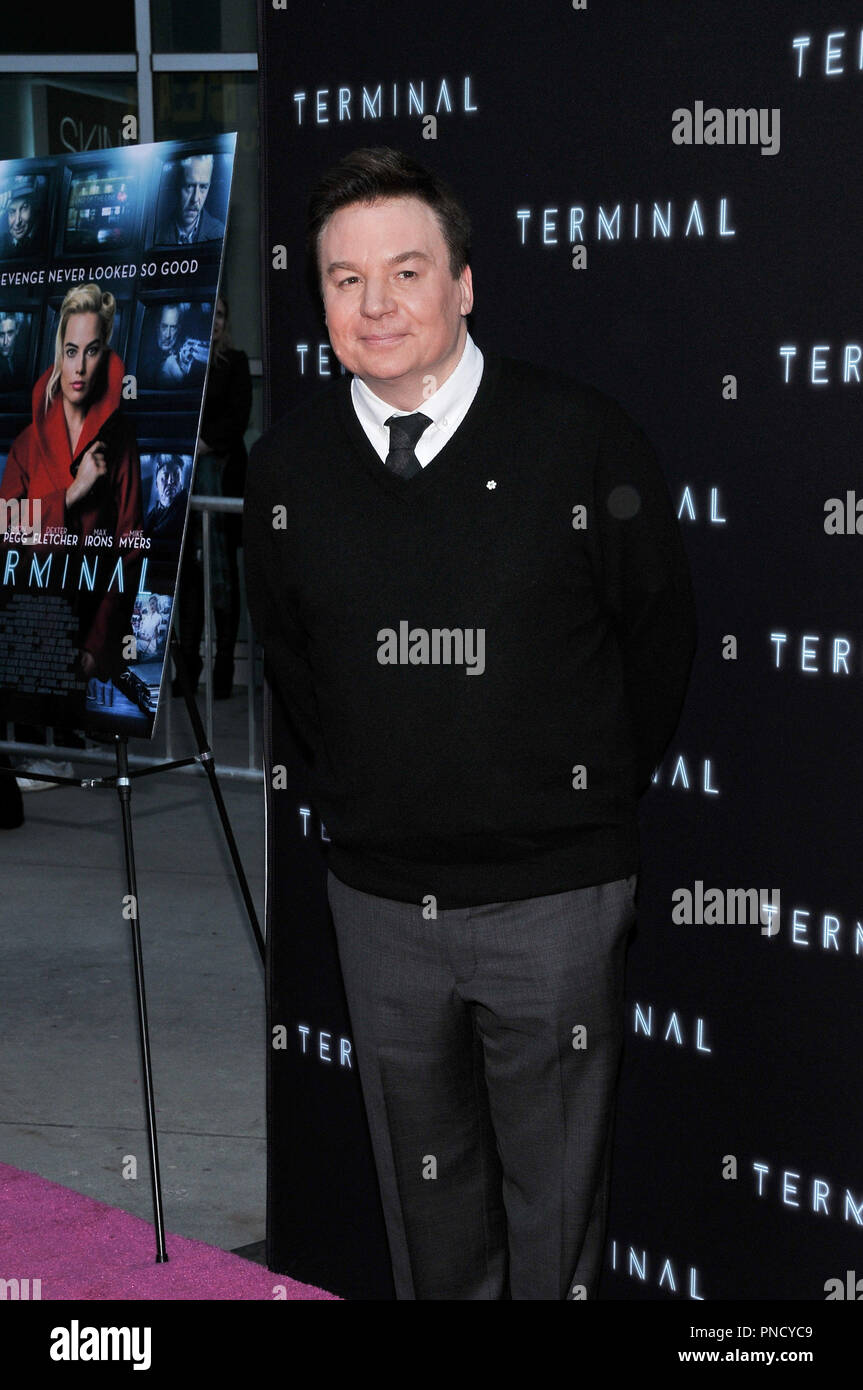 Mike Myers at the 'Terminal' Premiere held at the ArcLight Hollywood in Los Angeles, CA on Tuesday, May 8, 2018. Photo by PRPP/ PictureLux  File Reference # 33590_030PRPP01  For Editorial Use Only -  All Rights Reserved - Stock Image