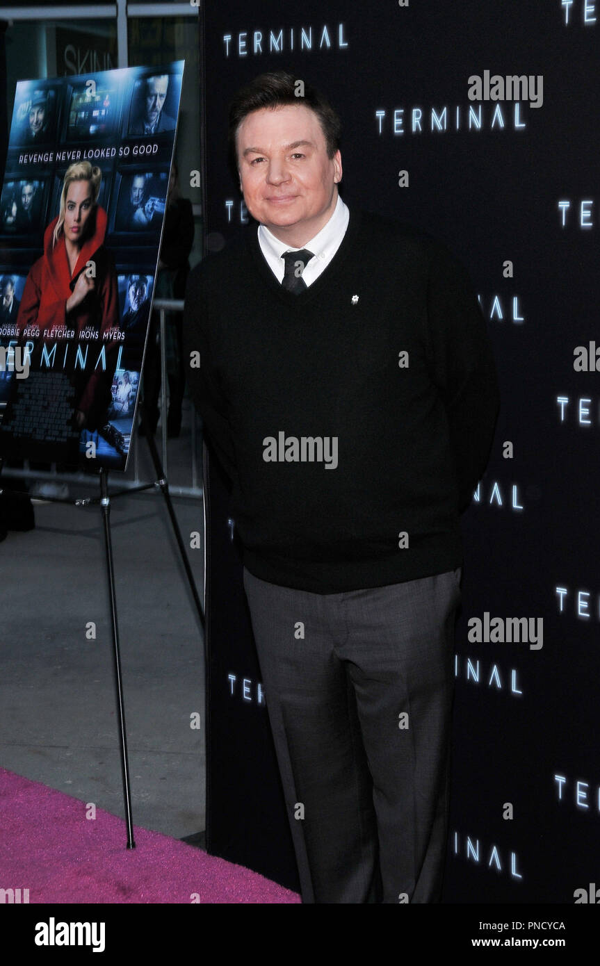 Mike Myers at the 'Terminal' Premiere held at the ArcLight Hollywood in Los Angeles, CA on Tuesday, May 8, 2018. Photo by PRPP/ PictureLux  File Reference # 33590_031PRPP01  For Editorial Use Only -  All Rights Reserved - Stock Image