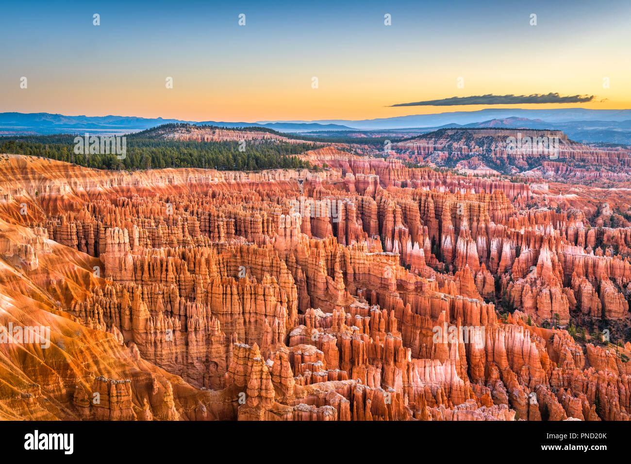 Bryce Canyon National Park, Utah, USA at dawn. - Stock Image