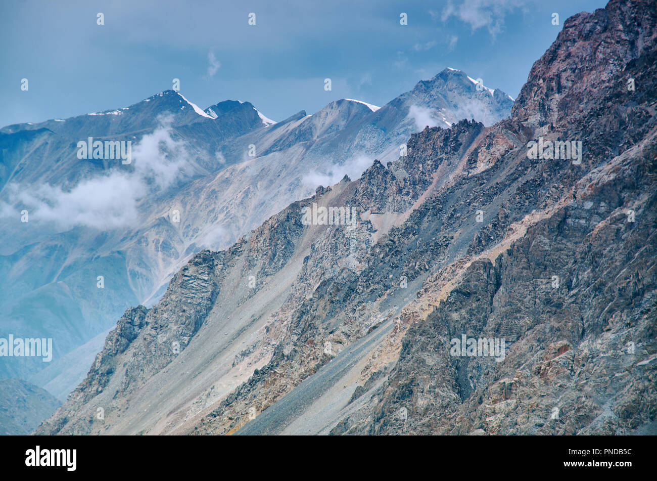Barskoon Gorge,  Beautiful view of the mountains, Kyrgyzstan,  Central Asia Stock Photo