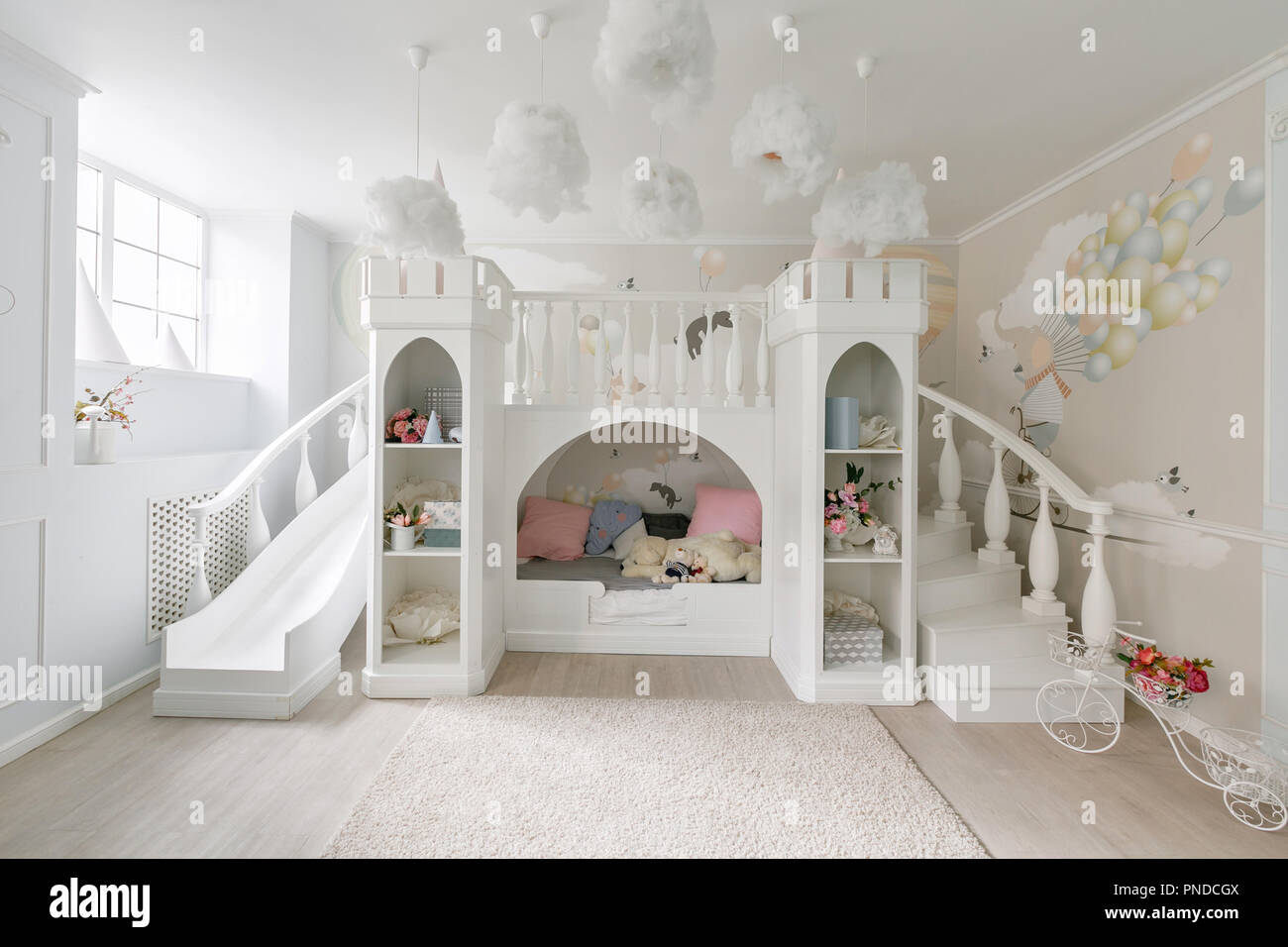 Interior of a spacious children 39 s room decorative castle - Children s room interior images ...