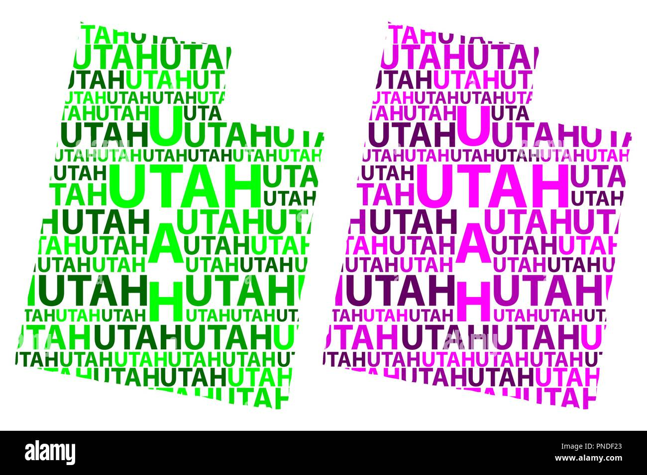 Sketch Utah (United States of America) letter text map, Utah ...