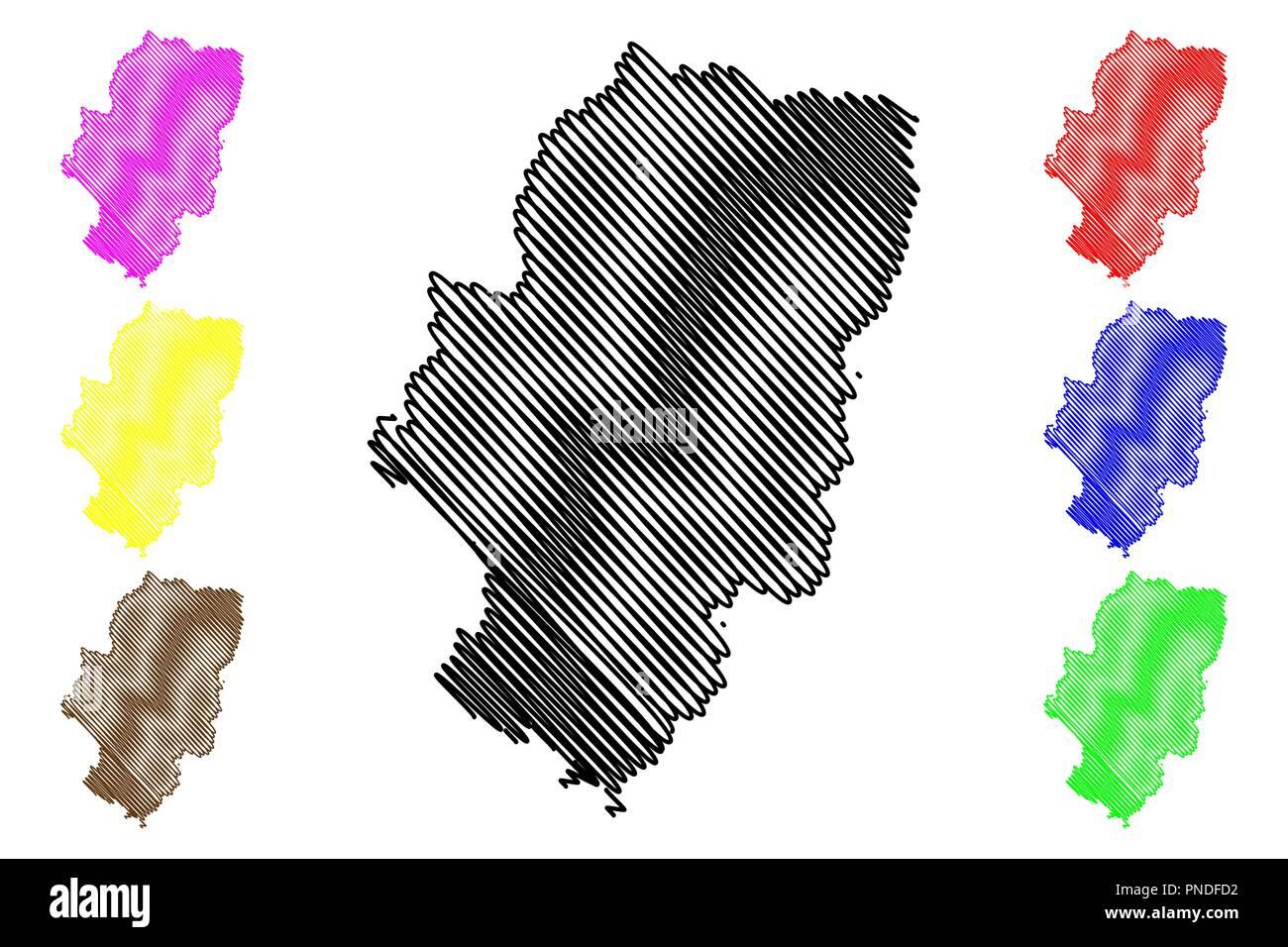 Aragon Kingdom Of Spain Autonomous Community Map Vector