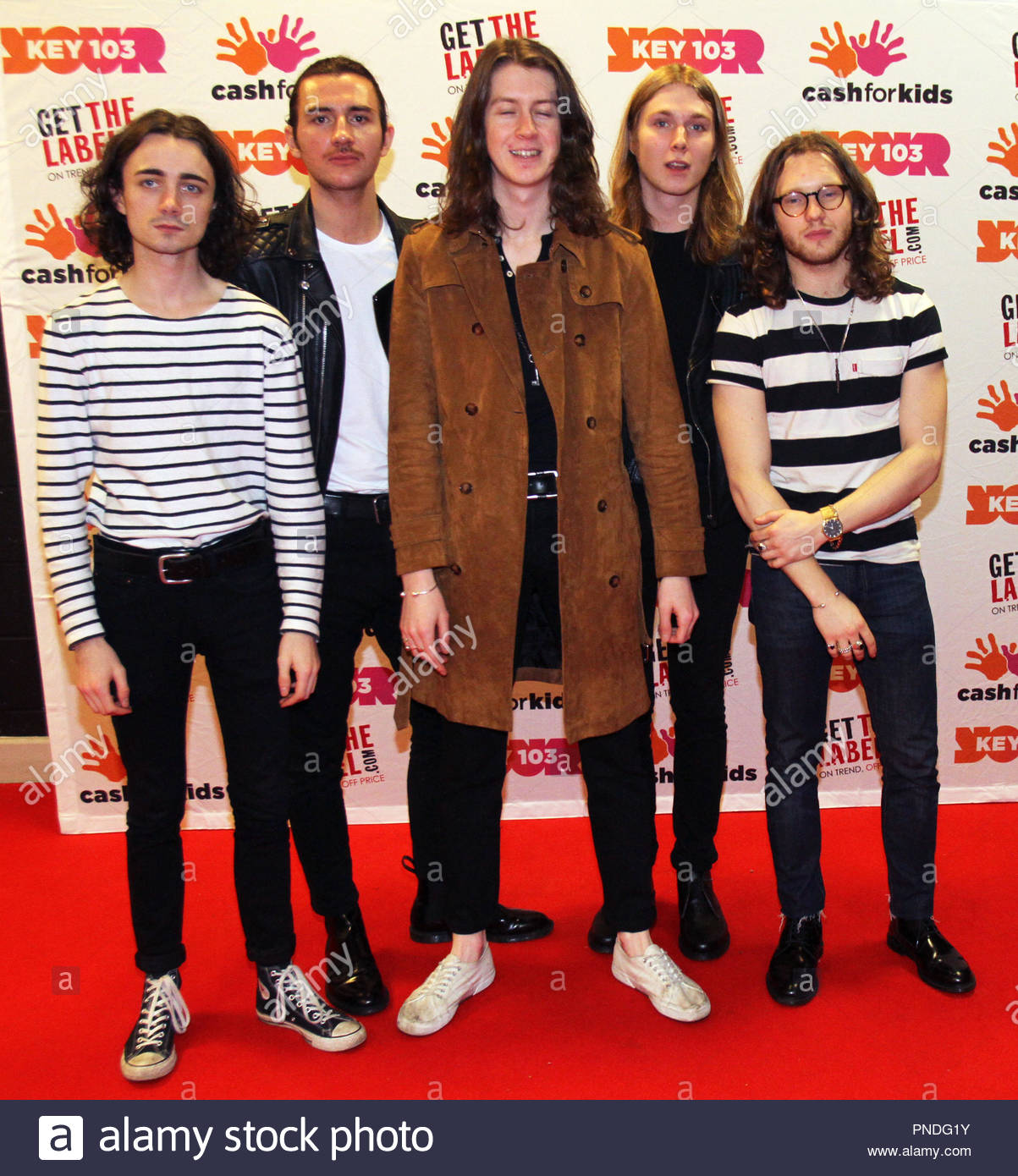 Blossoms backstage at Key 103 Live at the Manchester Arena on Friday 09 December 2016 - Stock Image