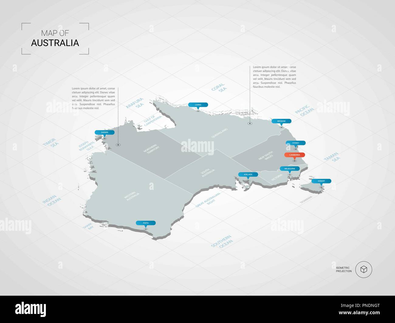 Map Of Australia And Cities.Australia Map Stock Photos Australia Map Stock Images Alamy