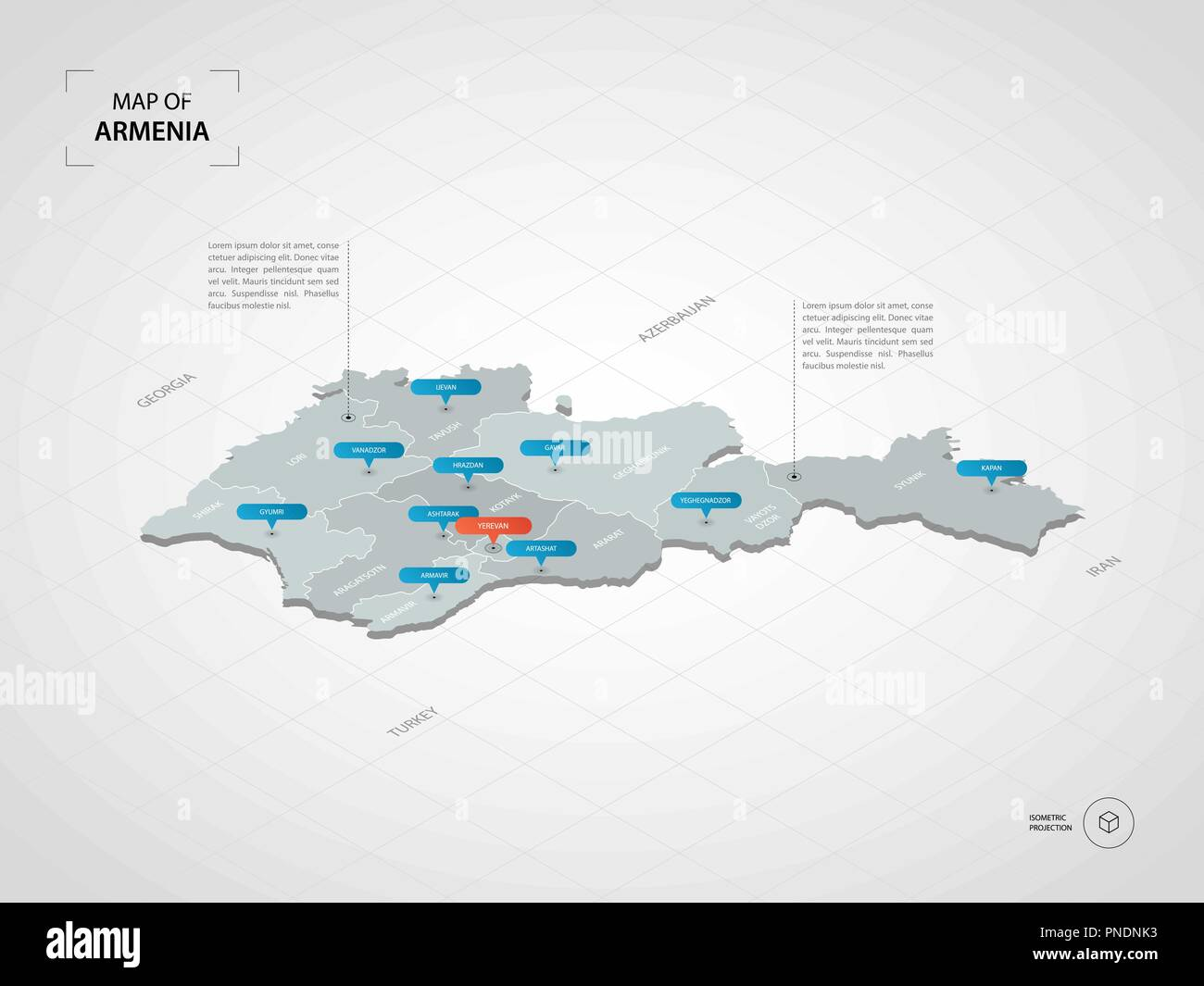 Isometric 3D Armenia map. Stylized vector map illustration ... on map of southern europe cities, map of central america cities, map of france cities, map of uk cities, map of china cities, map of s korea cities, map of asia cities, map of chile cities, map of latin america cities, map of west germany cities, map of brazil cities, map of western ukraine cities, map of india cities, map of the dominican republic cities, map of dutch cities, map of new zealand cities, map of ussr cities, map of democratic republic of congo cities, map of ireland cities, map of portugal cities,
