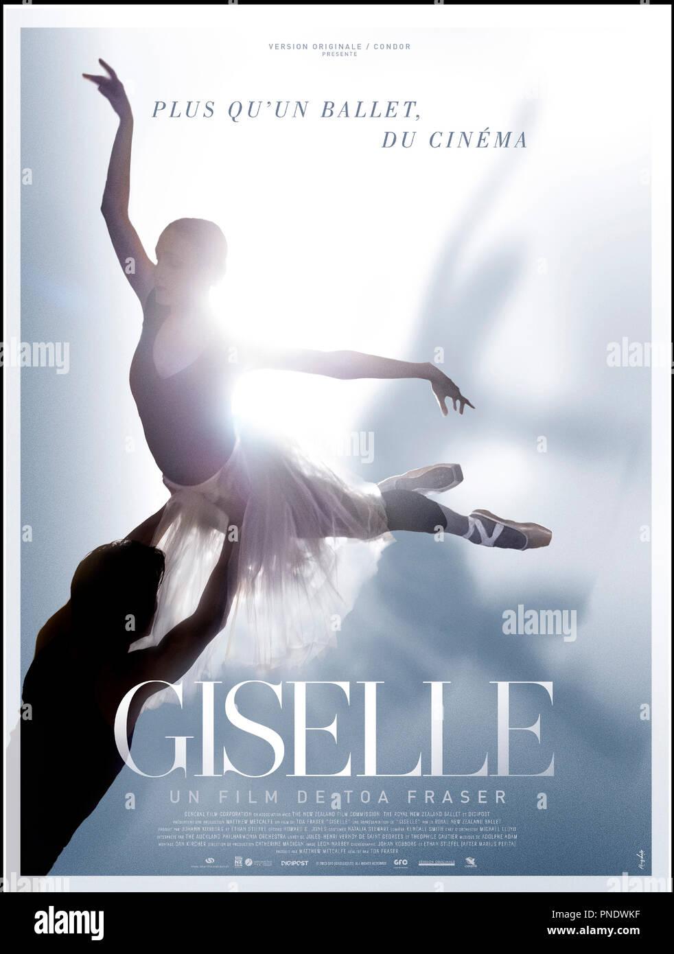Prod DB © General Film Corporation / DR GISELLE de Toa Fraser 2014 NZ affiche française ballet, danse classique - Stock Image