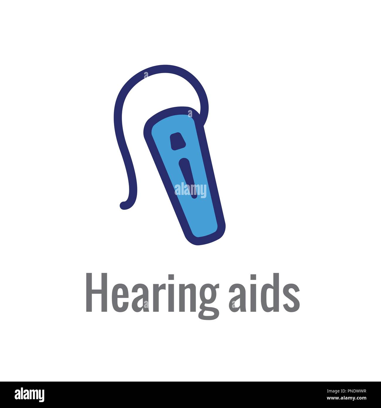 Hearing Aid Or Loss W Sound Wave Image Icon Stock Vector Art