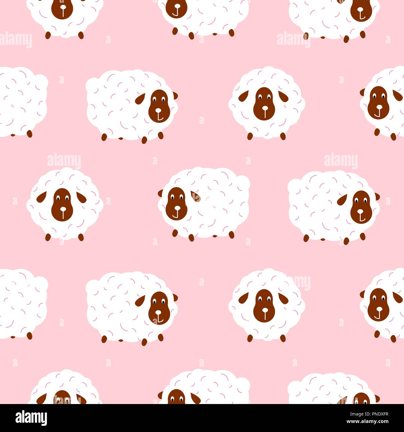Baby Sheep Stock Vector Images - Alamy