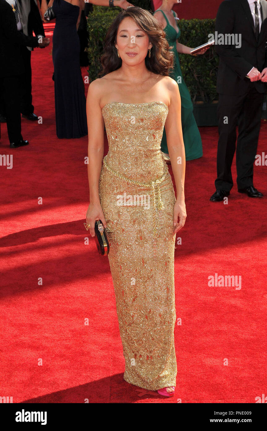 Sandra Oh at the 61st Annual Primetime Emmy Awards - Arrivals held at the Nokia Theater in Los Angeles, CA on Sunday, September 20, 2009. Photo by: PRPP / PictureLux  File Reference # Sandra_Oh_92009_3PRPP  For Editorial Use Only -  All Rights Reserved - Stock Image