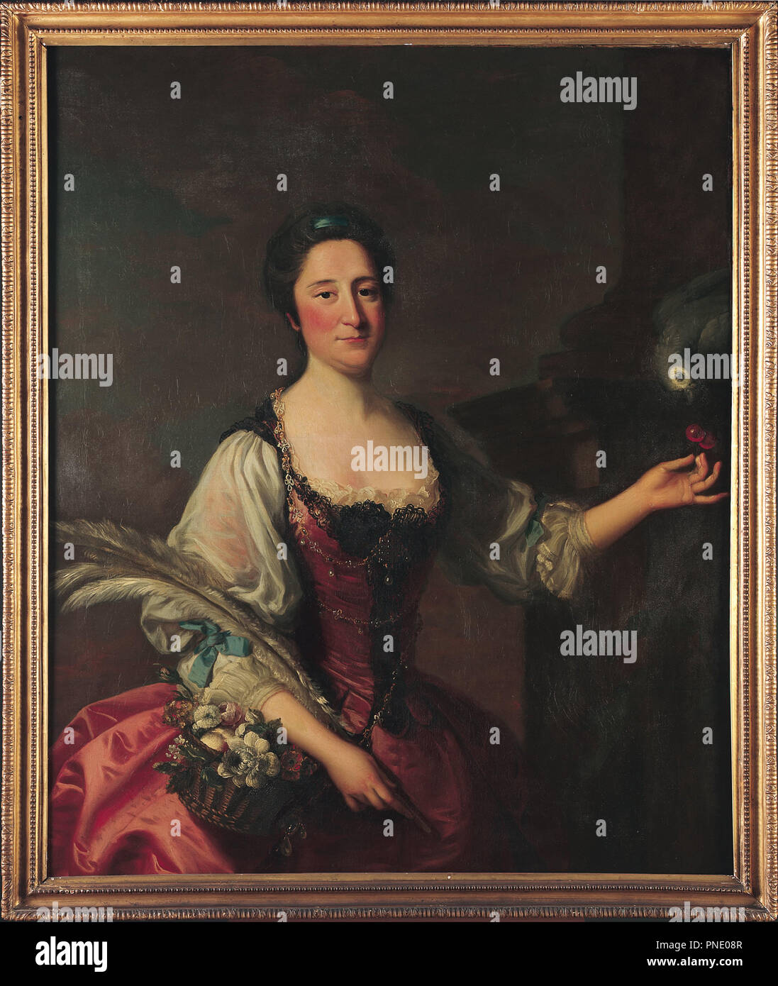 Phila Franks. Date/Period: 18th century. Oil painting. Height: 1,123 mm (44.21 in); Width: 897 mm (35.31 in). Author: HUDSON, THOMAS. - Stock Image