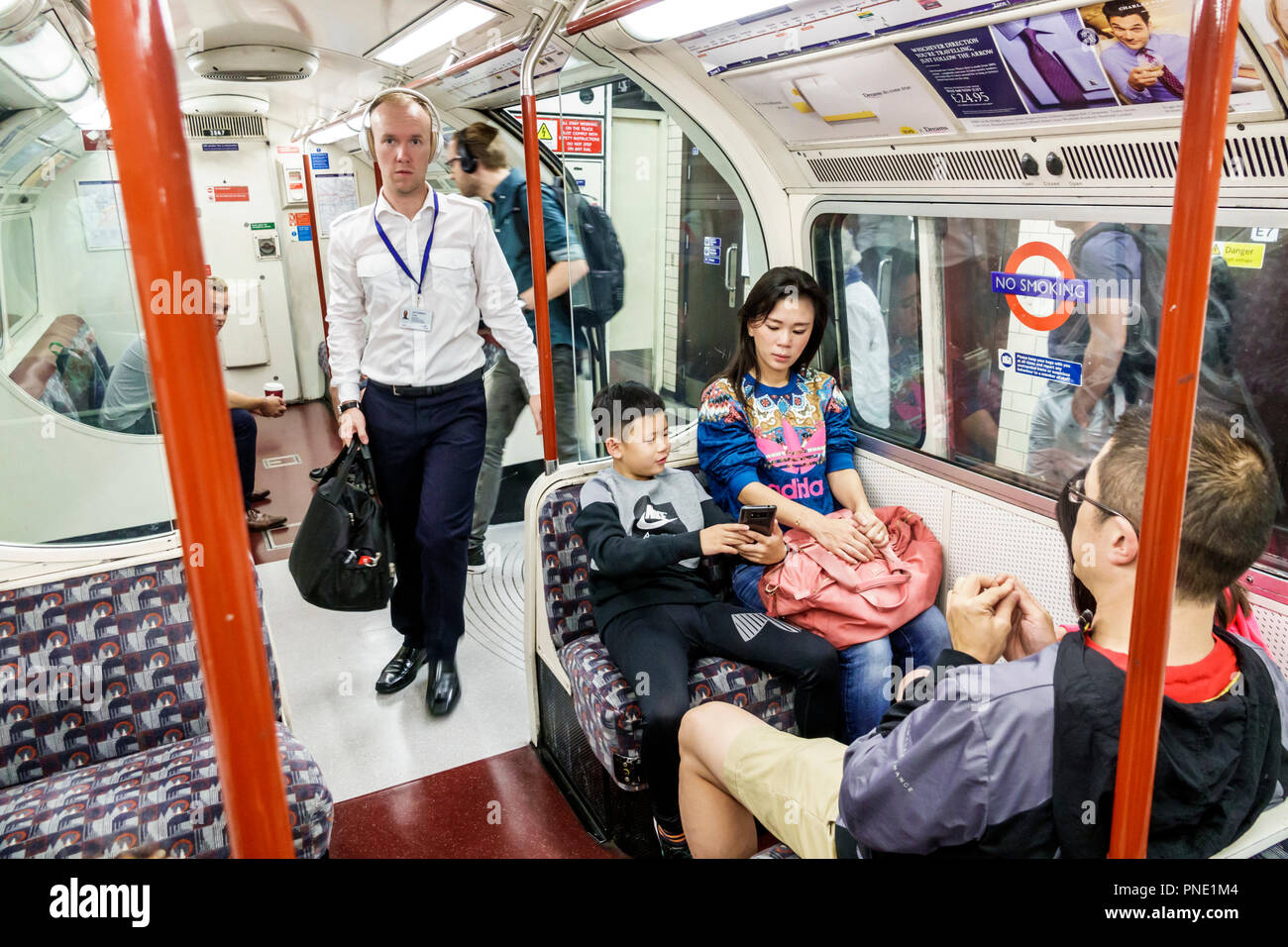 London England Great Britain United Kingdom South Bank Lambeth North Underground Station Subway Tube Public Transportation Mass Transit Train Carriage