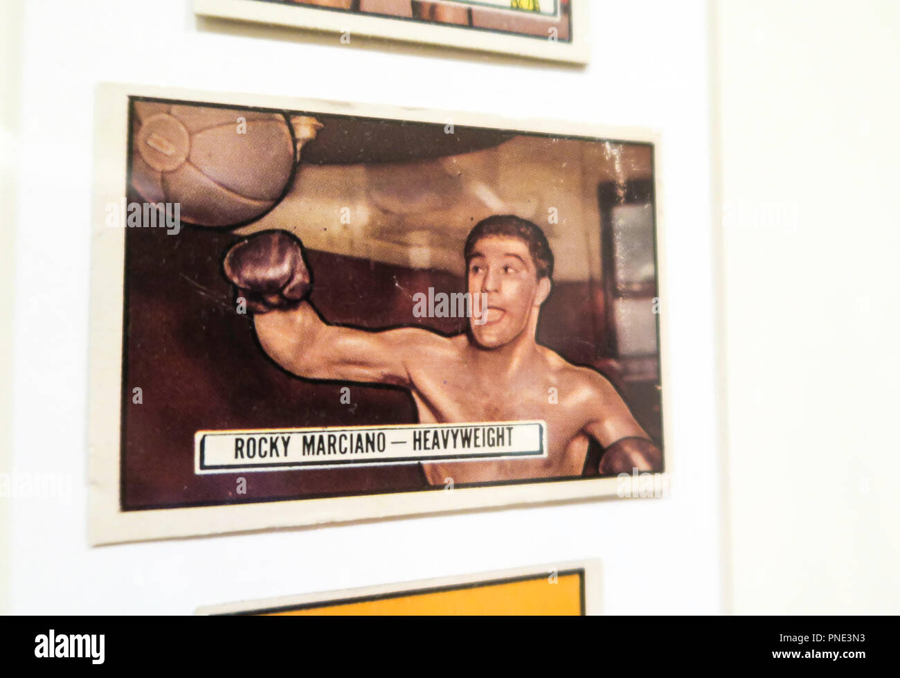 'On the Ropes' Vintage Boxing Cards from the Jefferson R. Burdidyck Collection at the Metropolitan Museum of Art, NYC, USA - Stock Image