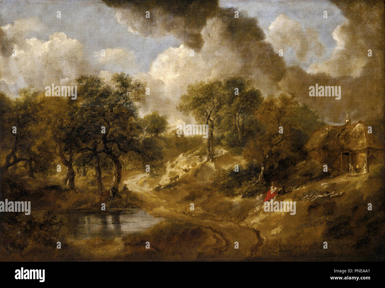 En. Date/Period: Between ca. 1746 and ca. 1750. Painting. Oil on canvas. Height: 660 mm (25.98 in); Width: 950 mm (37.40 in). Author: Thomas Gainsborough. GAINSBOROUGH, THOMAS. Stock Photo