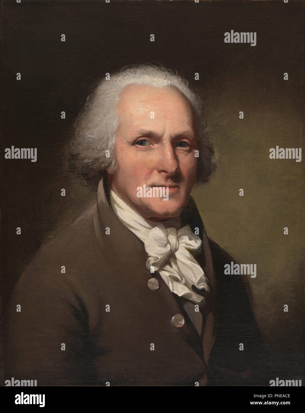 Charles Willson Peale Self-Portrait. Date/Period: Ca. 1791. Painting. Oil on canvas. Height: 848 mm (33.38 in); Width: 721 mm (28.38 in). - Stock Image