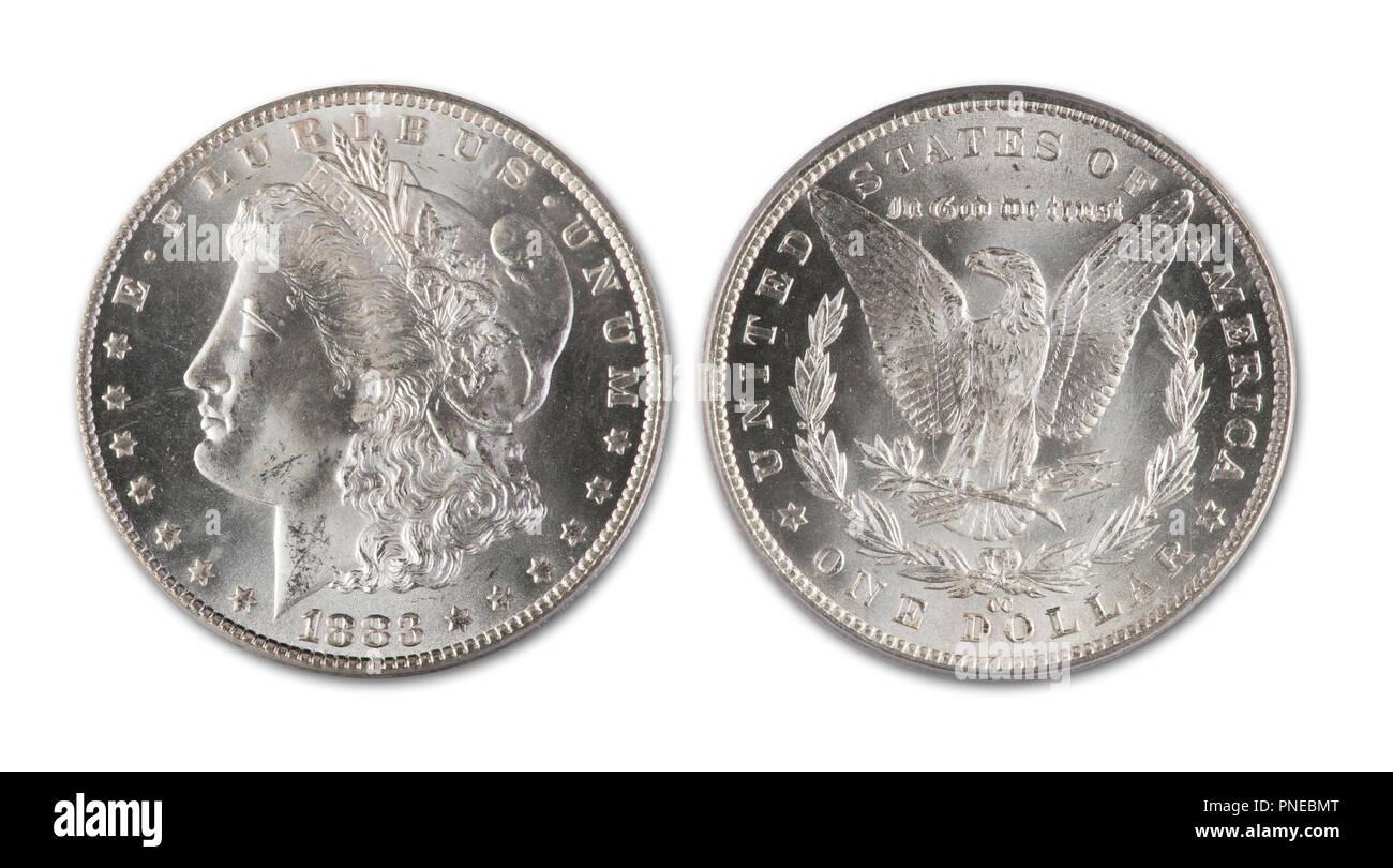 Morgan Silver Dollar Stock Photos & Morgan Silver Dollar