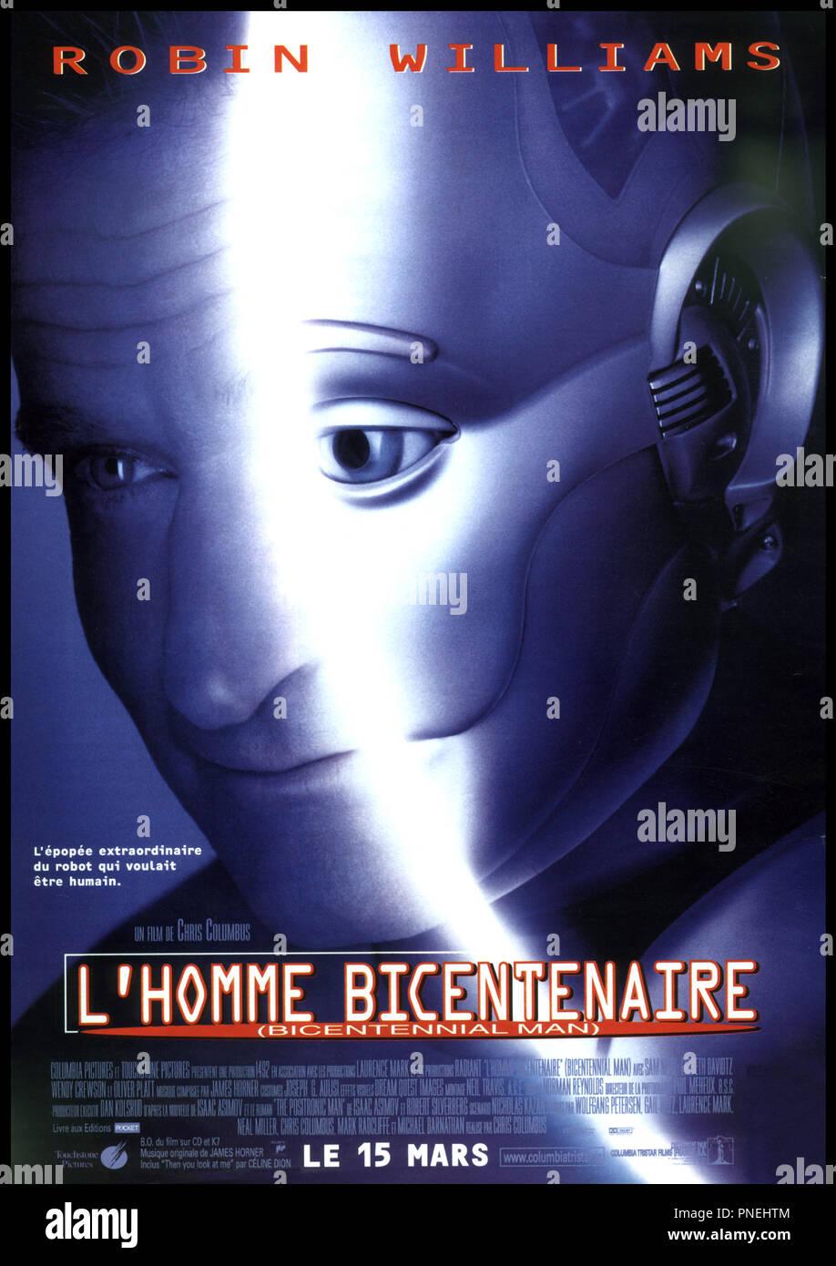 Prod DB © Columbia / DR L'HOMME BICENTENAIRE (BICENTENNIAL MAN) de Chris Columbus 1999 USA affiche d'aprs le roman de Isaac Asimov et Robert Silverberg - Stock Image