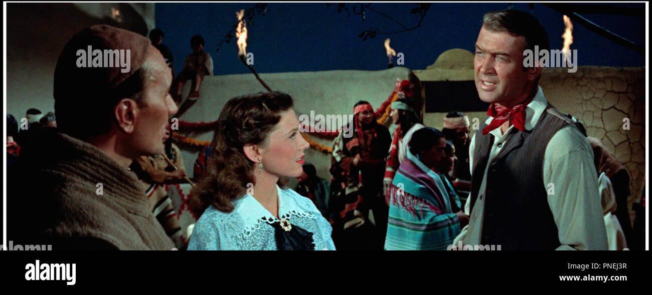 Prod DB © Columbia / DR L'HOMME DE LA PLAINE (THE MAN FROM LARAMIE) de Anthony Mann 1955 USA avec Frank DeKova, Cathy O'Donnell et James Stewart western - Stock Image