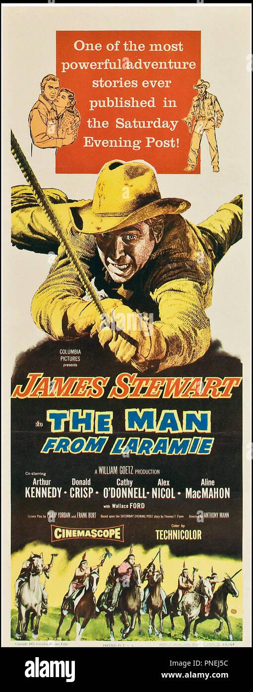 Prod DB © Columbia / DR L'HOMME DE LA PLAINE (THE MAN FROM LARAMIE) de Anthony Mann 1955 USA affiche americaine avec James Stewart, Arthur Kennedy, Cathy O'Donnell western - Stock Image