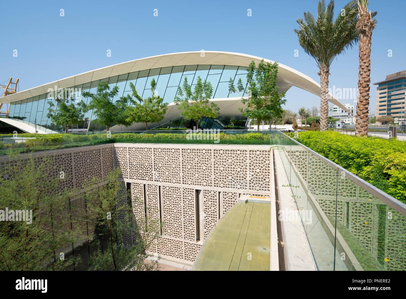 Modern Etihad Museum , a history museum of the UAE, in Dubai, United Arab Emirates. - Stock Image
