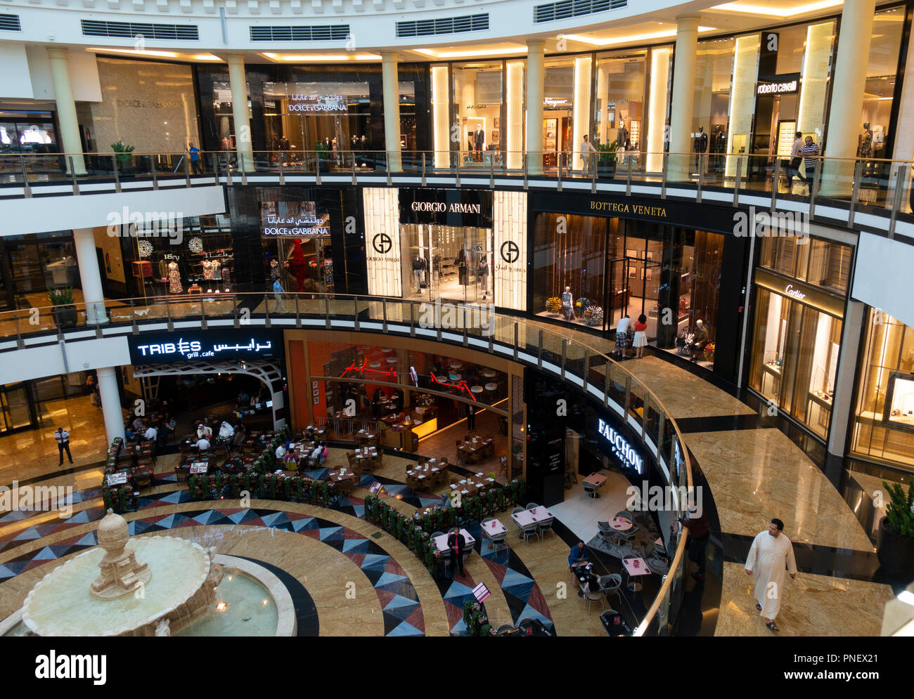 Interior of Mall of the Emirates in Dubai, UAE - Stock Image