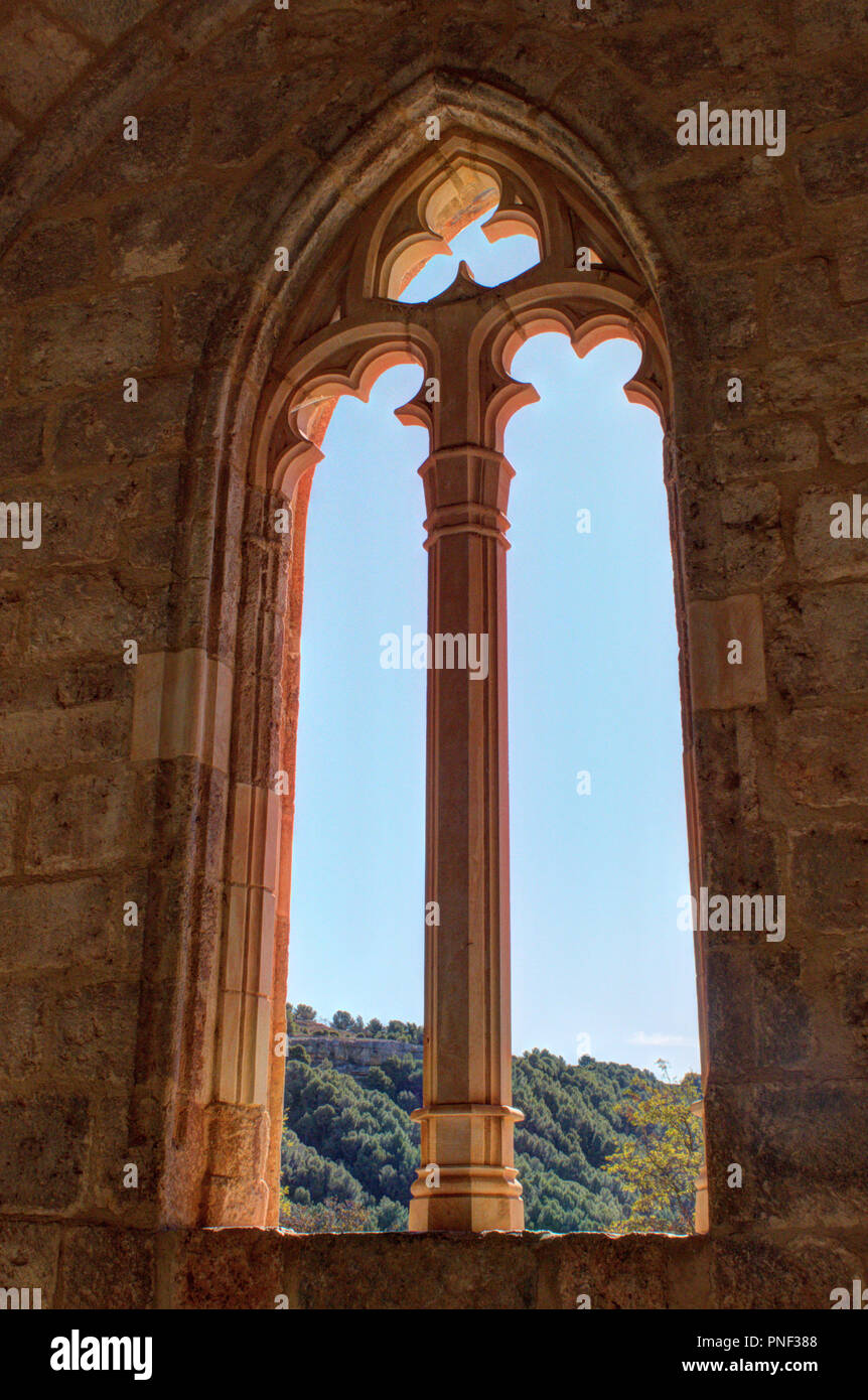 The Gothic Pointed Arch Window With Decorations At The Entrance Of
