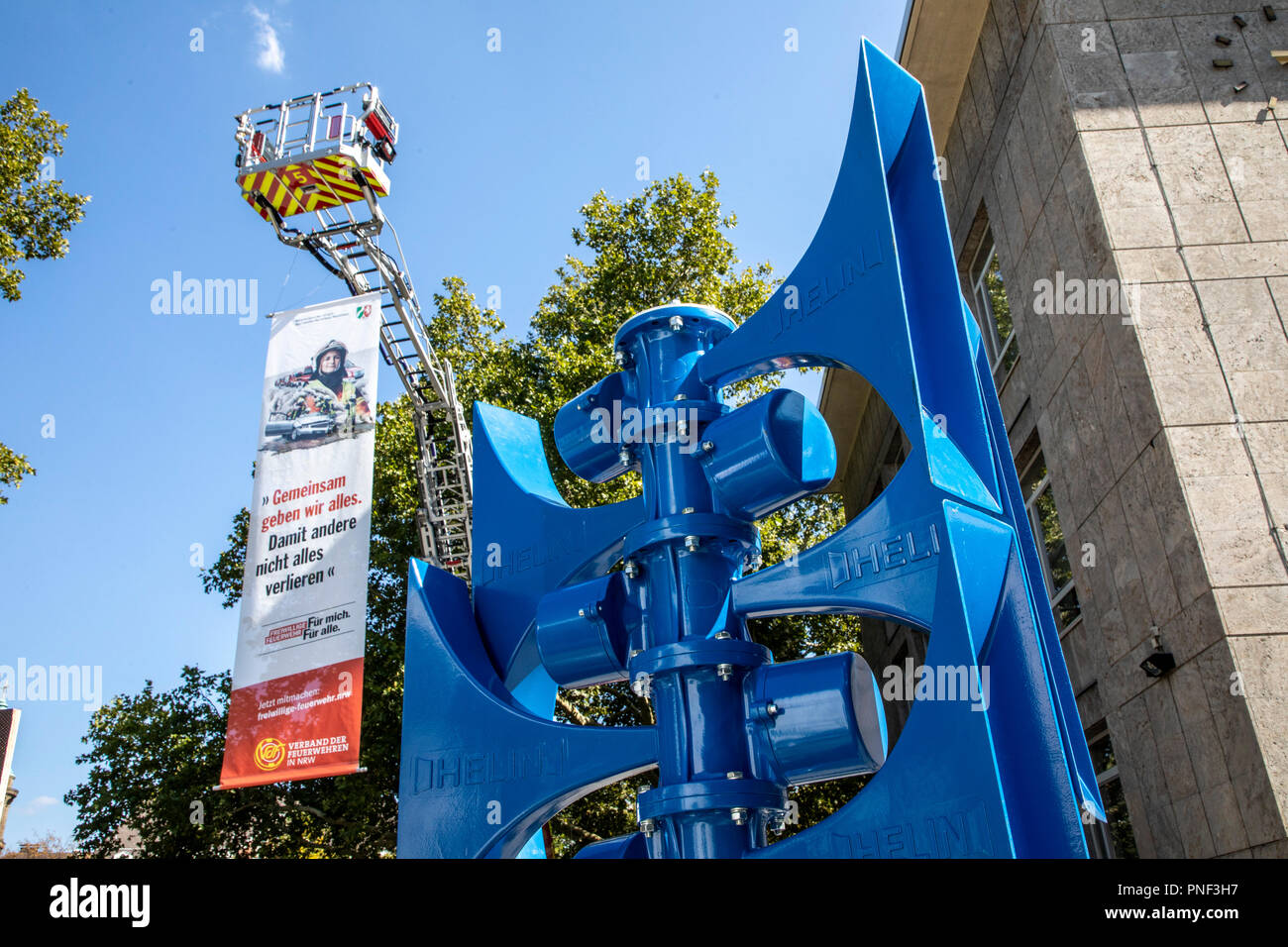 Siren, warning system, system of Helin company, to the population warning, - Stock Image