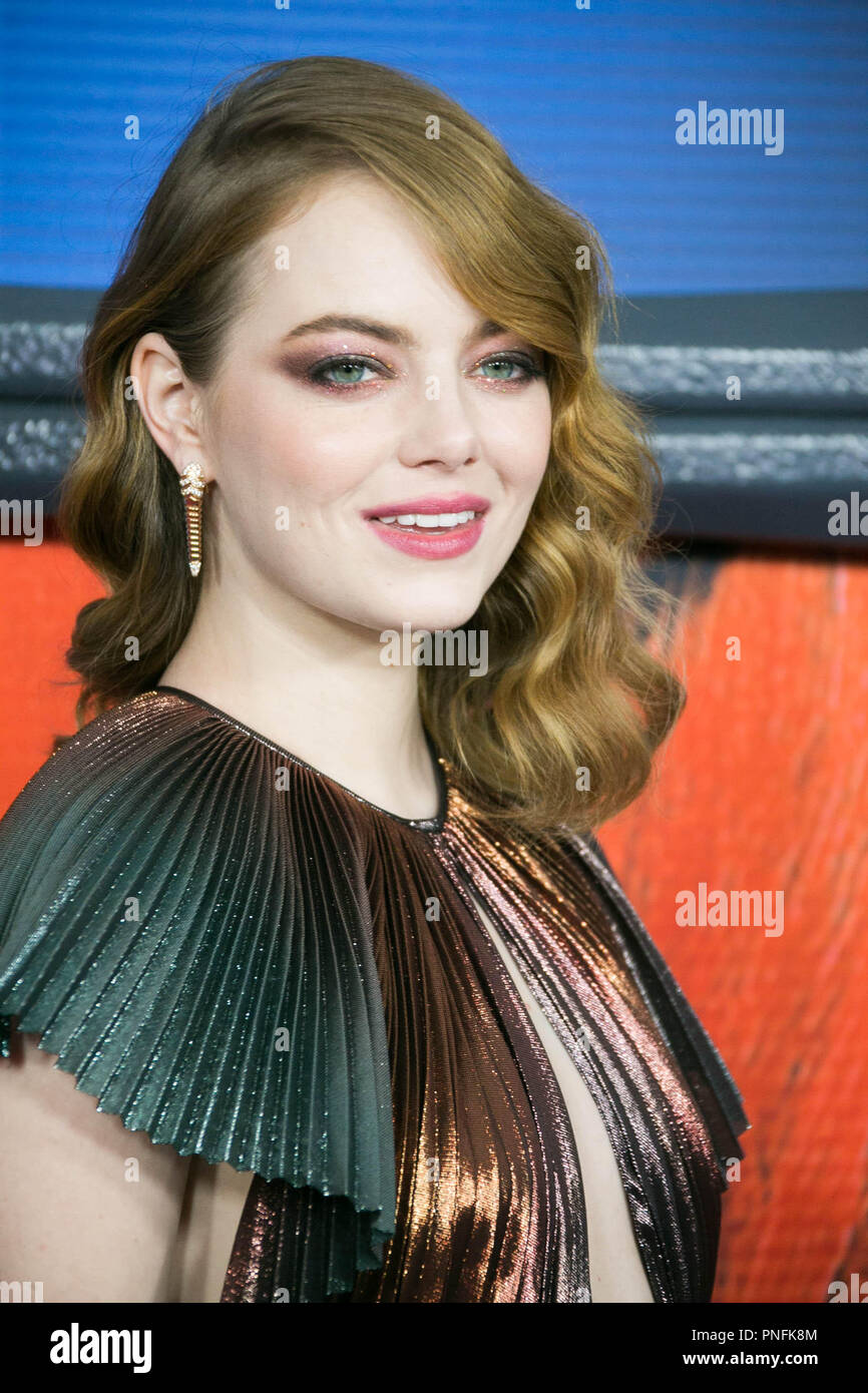 New York, NY, USA. 20th Sep, 2018. Emma Stone attends Netflix's Maniac Season 1 Premiere Red Carpet Event at Center 415. Alamy Live News/ Sppider Credit: Sppider/Alamy Live News - Stock Image