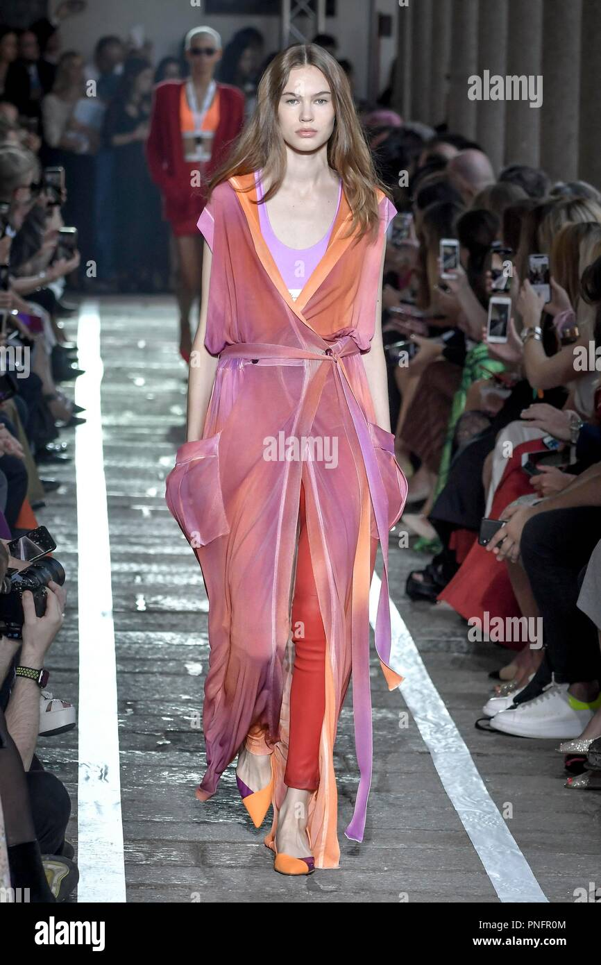 fa2ee3c36d2e Milan Fashion Week Fashion Women Spring Summer 2019. Blumarine fashion  show. In the photo  model Credit  Independent Photo Agency Alamy Live News