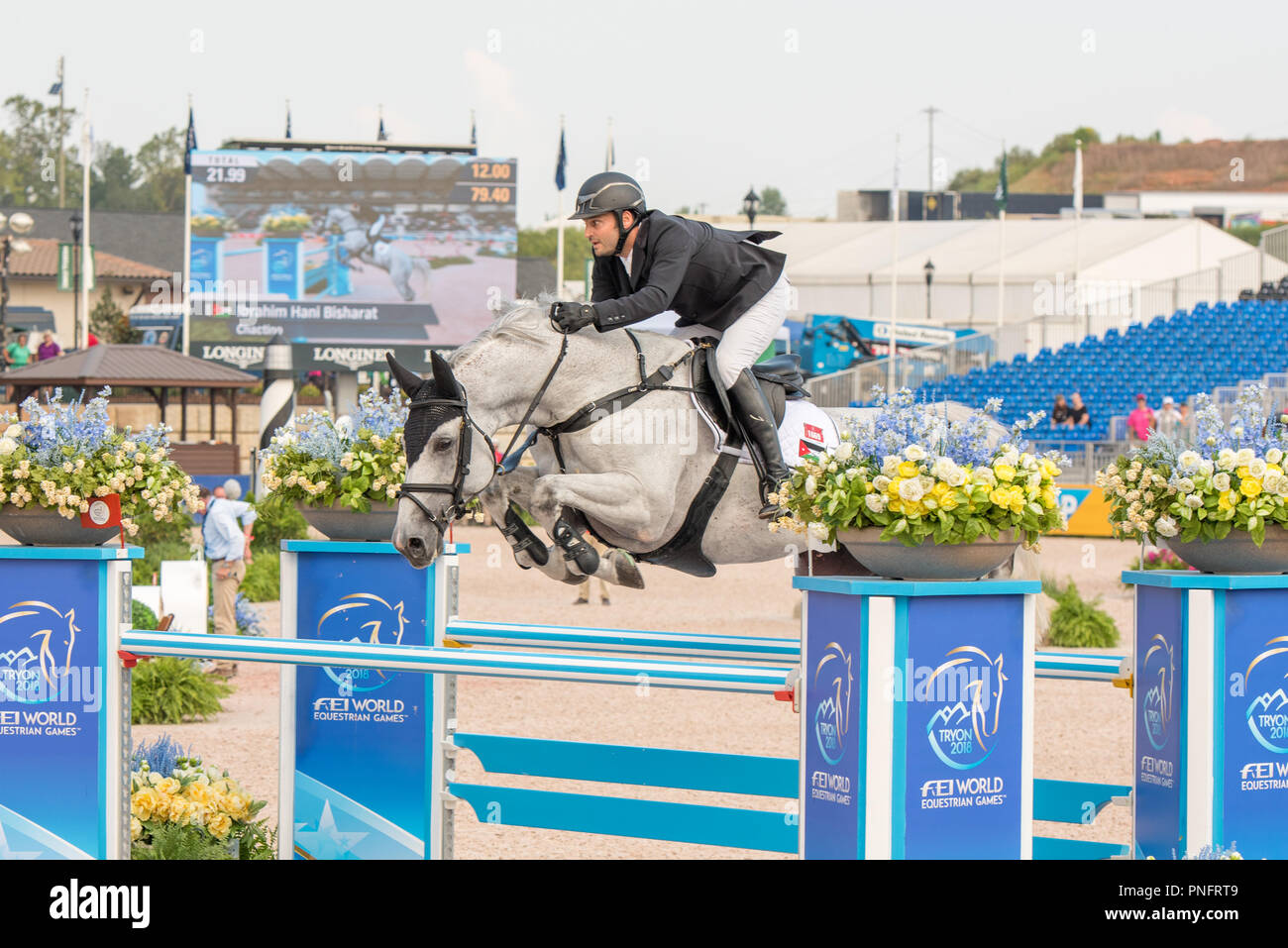 Mill Spring, NC. 20 Sep 2018. FEI WEG Tryon 2018 Continues with Jumping and Vaulting Competitions. Stock Photo