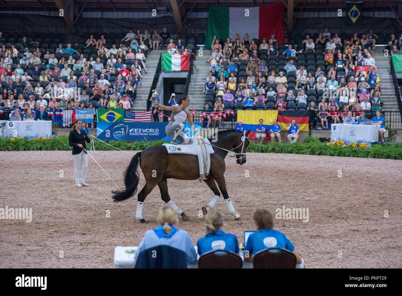 Mill Spring, NC. 20 Sep 2018. FEI WEG Tryon 2018 Continues with Jumping and Vaulting Competitions. - Stock Image
