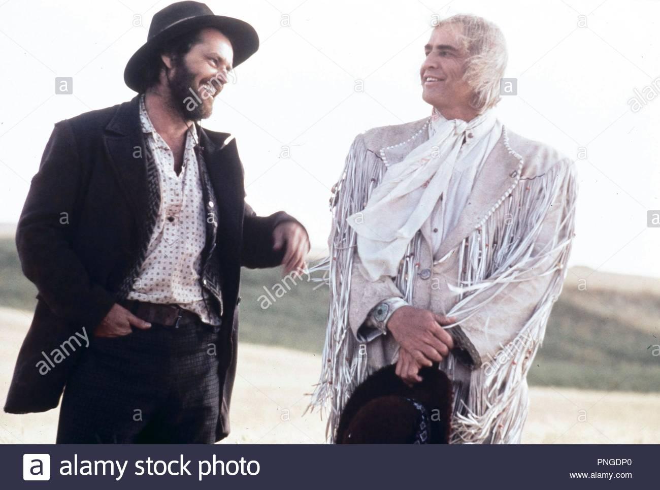 Original film title: THE MISSOURI BREAKS. English title: THE MISSOURI BREAKS. Year: 1976. Director: ARTHUR PENN. Stars: JACK NICHOLSON; MARLON BRANDO. Credit: UNITED ARTISTS / Album - Stock Image