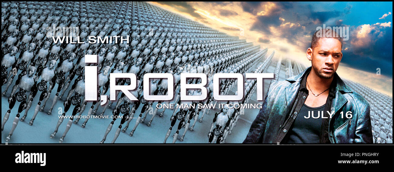 Prod DB © 20th Century Fox - Overbrook Entertainment / DR I, ROBOT (I ROBOT) de Alex Proyas 2004 USA affiche inspire du livre de Isaac Asimov - Stock Image