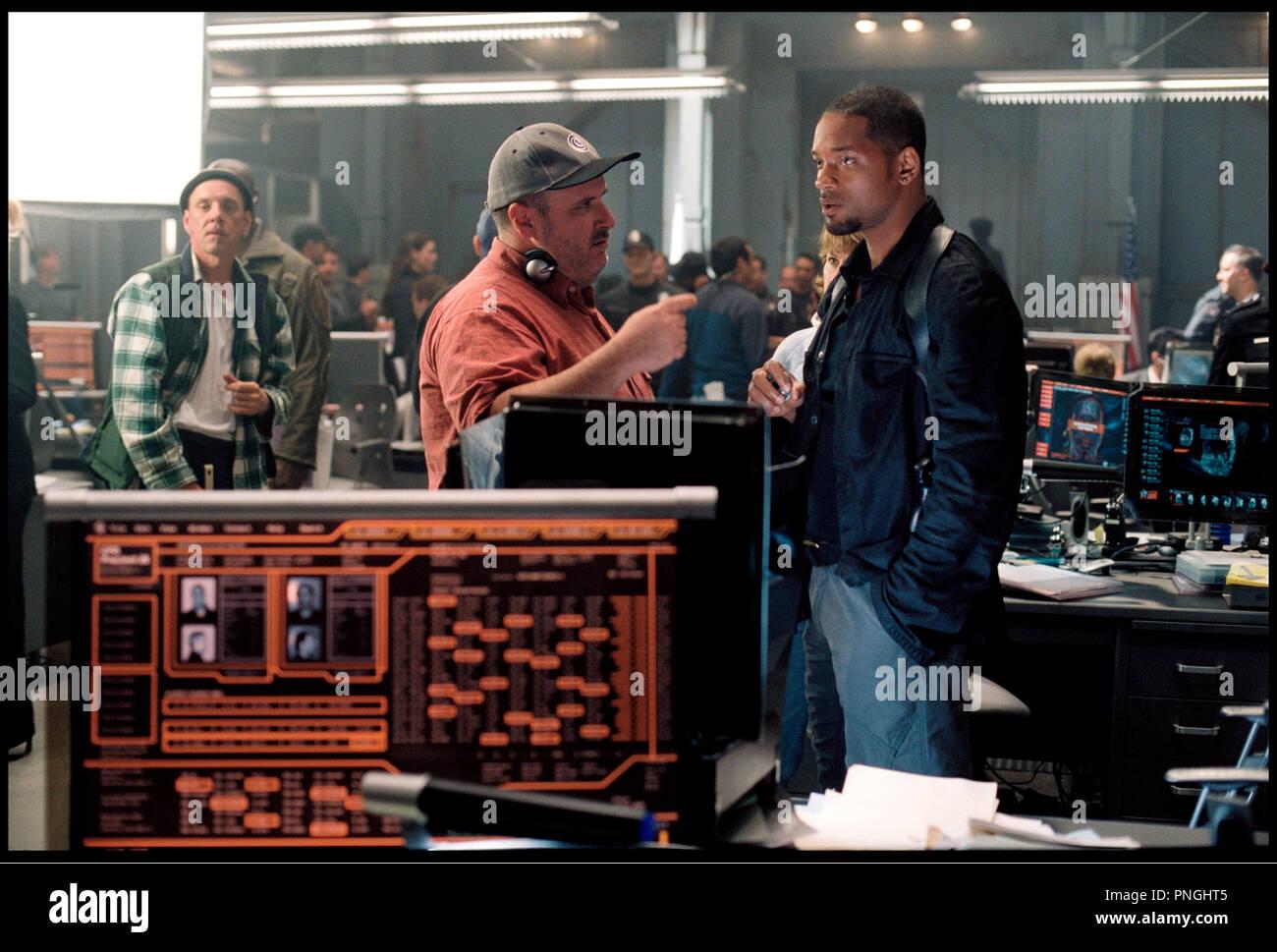 Prod DB © 20th Century Fox - Overbrook Entertainment / DR I, ROBOT (I ROBOT) de Alex Proyas 2004 USA avec Alex Proyas et Will Smith sur le tournage inspire du livre de Isaac Asimov - Stock Image