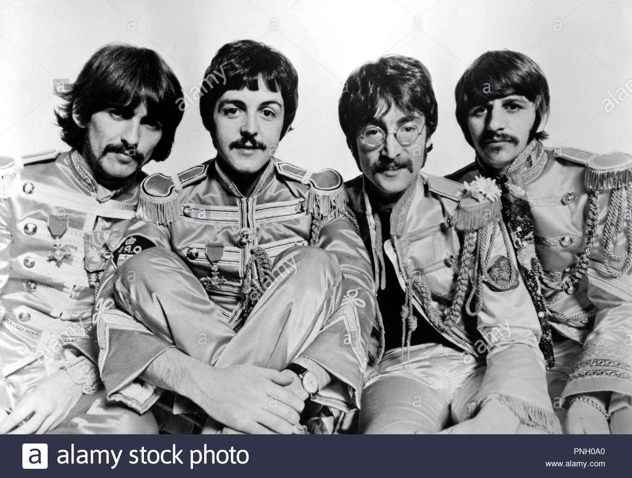 THE BEATLES; RINGO STARR; GEORGE HARRISON; PAUL MACCARTNEY; JOHN LENNON. - Stock Image