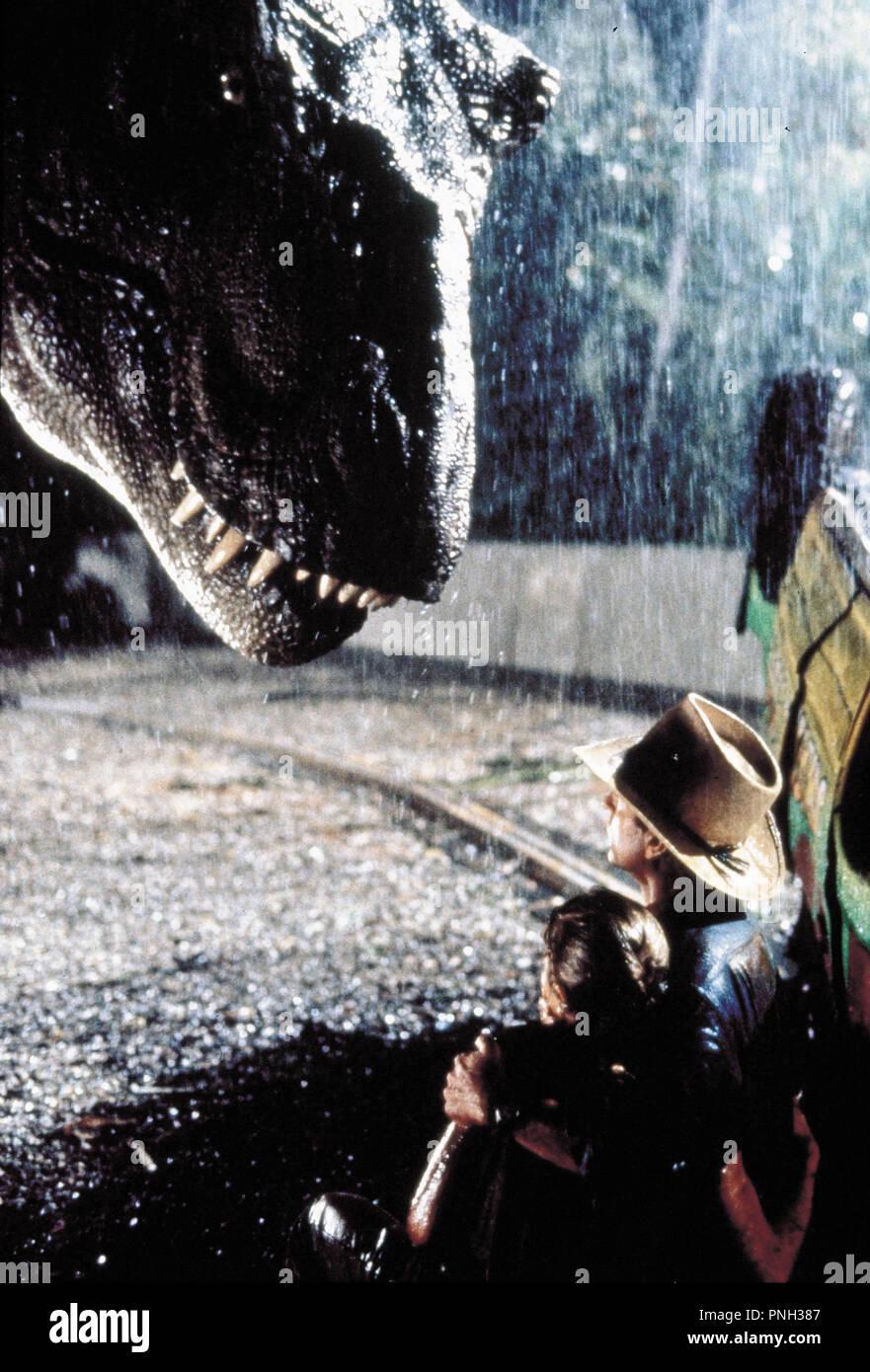 Original film title: JURASSIC PARK. English title: JURASSIC PARK. Year: 1993. Director: STEVEN SPIELBERG. Stars: SAM NEILL. Credit: AMBLIN/UNIVERSAL / Album - Stock Image