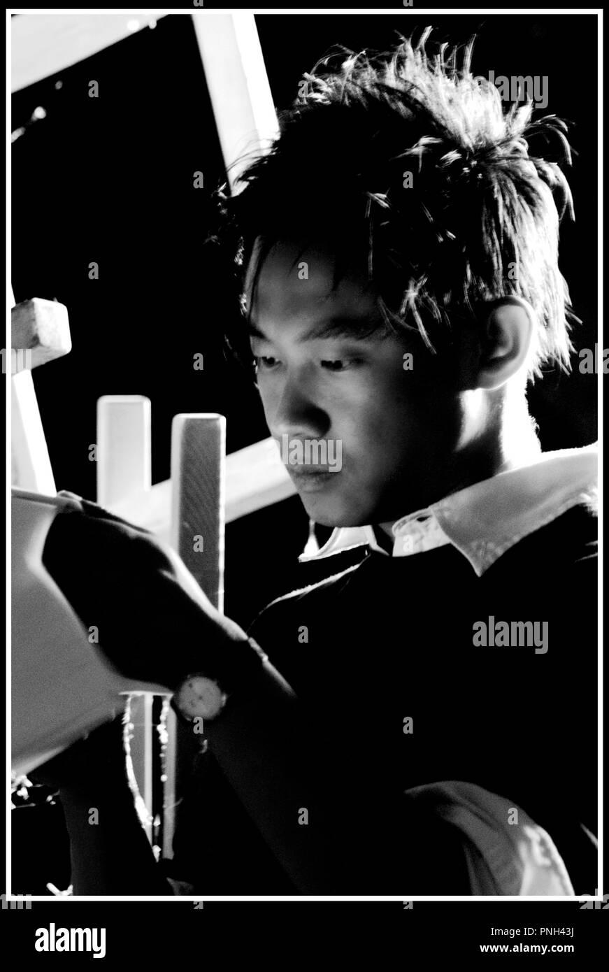 Prod DB © Alliance Films - Automatik Ent. - Blumhouse Prod./ DR INSIDIOUS de James Wan 2010 USA avec James Wan sur le tournage - Stock Image