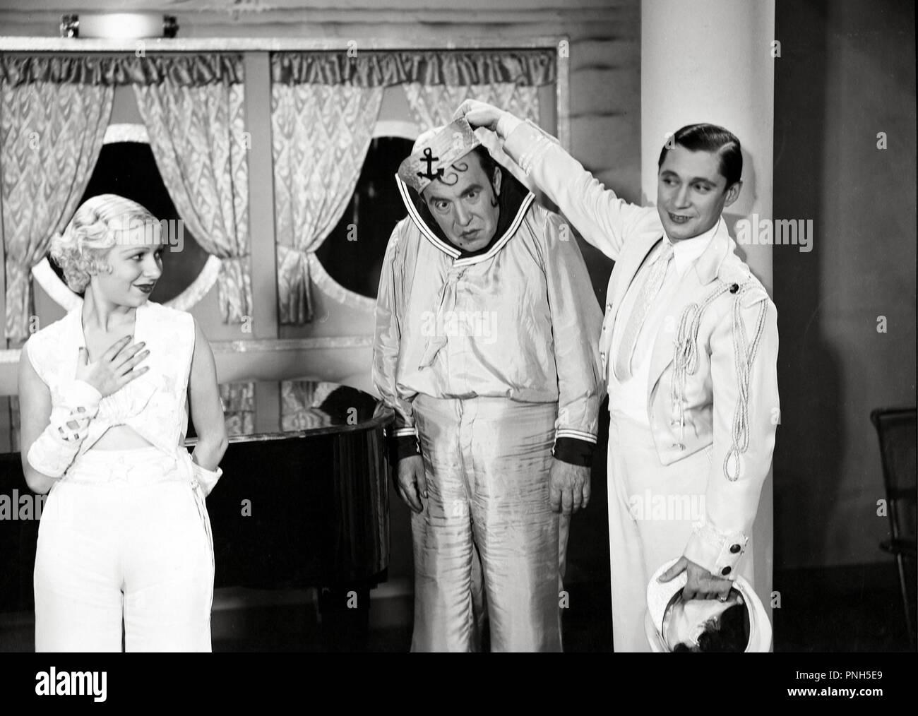 Original film title: ABAJO LOS HOMBRES. English title: ABAJO LOS HOMBRES. Year: 1936. Director: JOSE MARIA CASTELLVI. Stars: CARMELITA AUBERT; ALEJANDRO NOLLA; PIERRE CLAREL. Credit: EDICI / Album - Stock Image