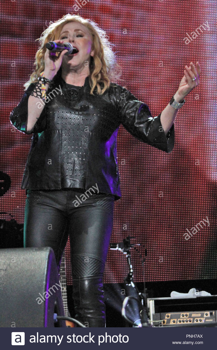 Carol Decker performs at Rewind North at Capesthorne Hall, Siddington, Cheshire on Sunday 06 August 2017 - Stock Image