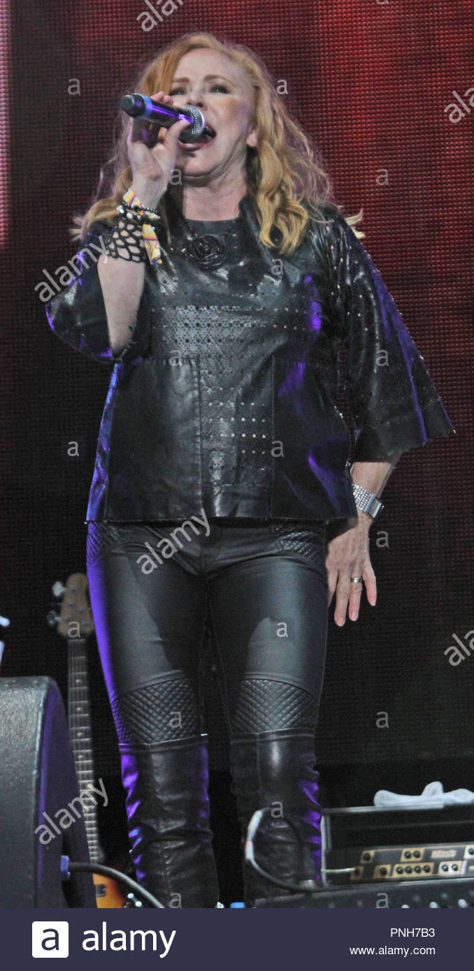 Carol Decker performs at Rewind North at Capesthorne Hall, Siddington, Cheshire on Sunday 06 August 2017 Stock Photo