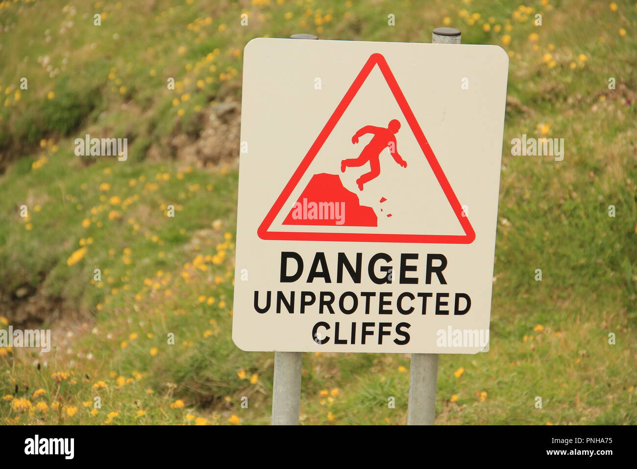 Dangerous cliffs - Stock Image