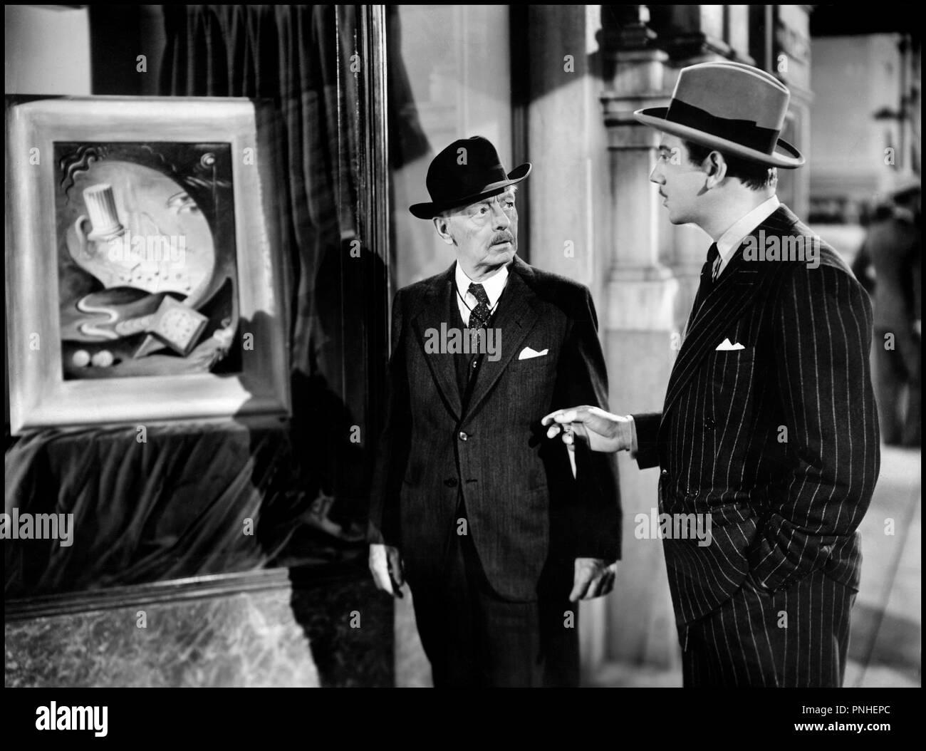 Prod DB © United Artists / DR ILLUSIONS PERDUES (THAT UNCERTAIN FEELING ) de Ernst Lubitsch 1941 USA avec Harry Davenport et Melvyn Douglas tableau, toile, musée Artistes Associés code SL 6400 - Stock Image