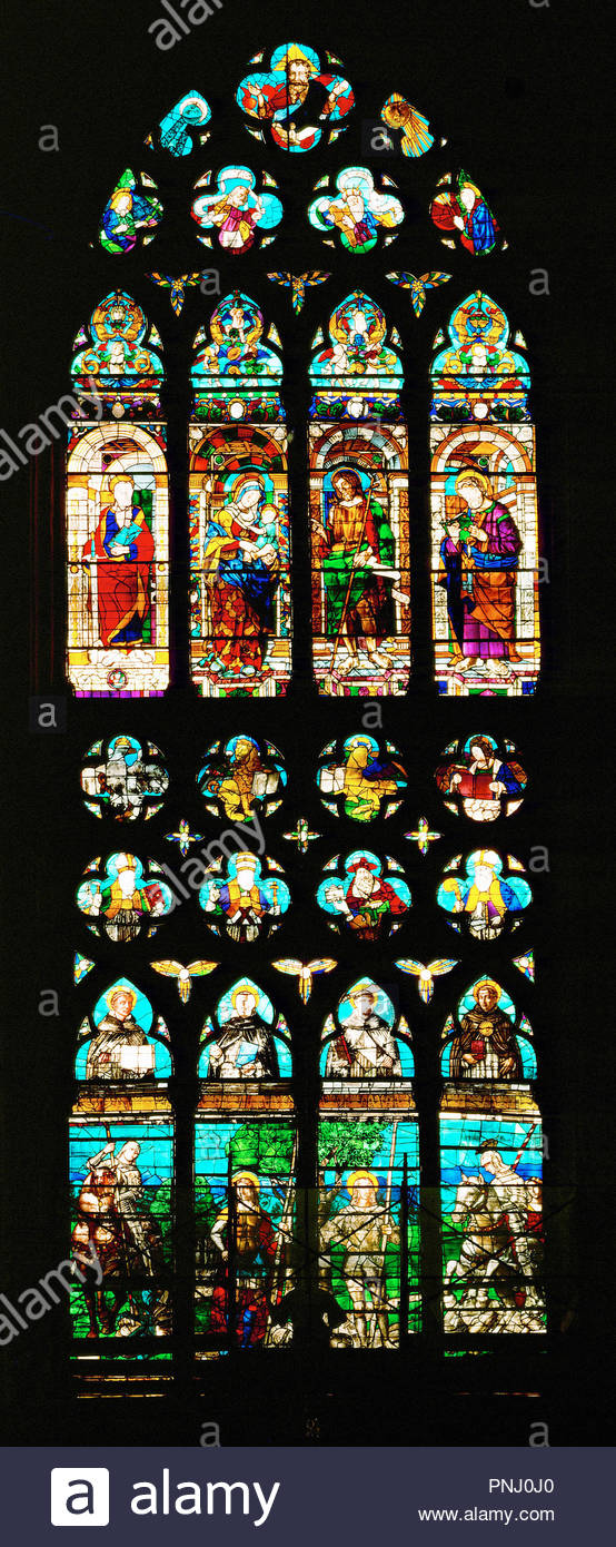 The Madonna Surrounded By Saints John Baptist Peter And Paul