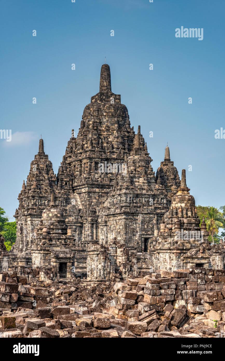Candi Sewu, Prambanan temple complex, Yogyakarta, Java, Indonesia Stock Photo