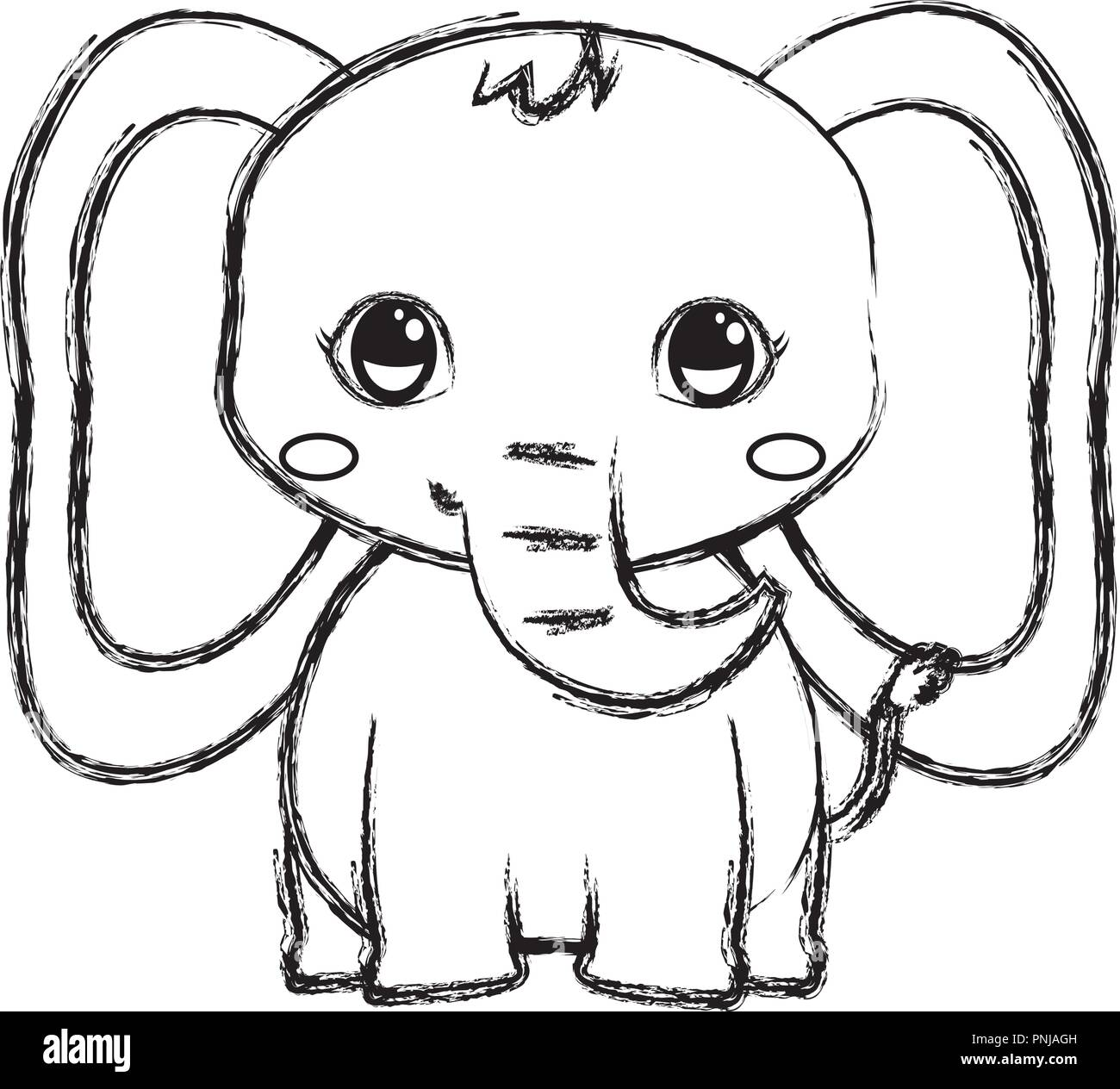Elephant Drawing High Resolution Stock Photography And Images Alamy