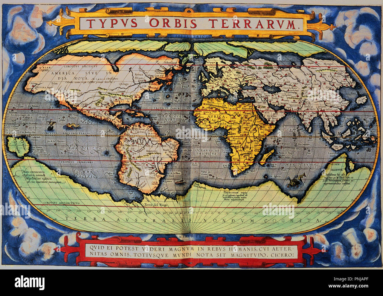 World map. 1579. Madrid, Geographic department of the Army. Author ...