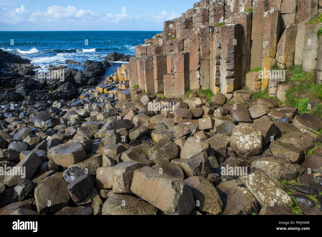 The magnificent Giant's Causeway in Northern Ireland. - Stock Image