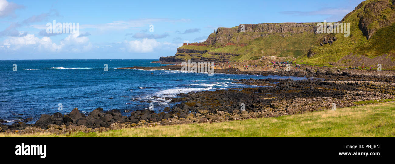 The view looking towards the Giant's Causeway, in Northern Ireland. - Stock Image