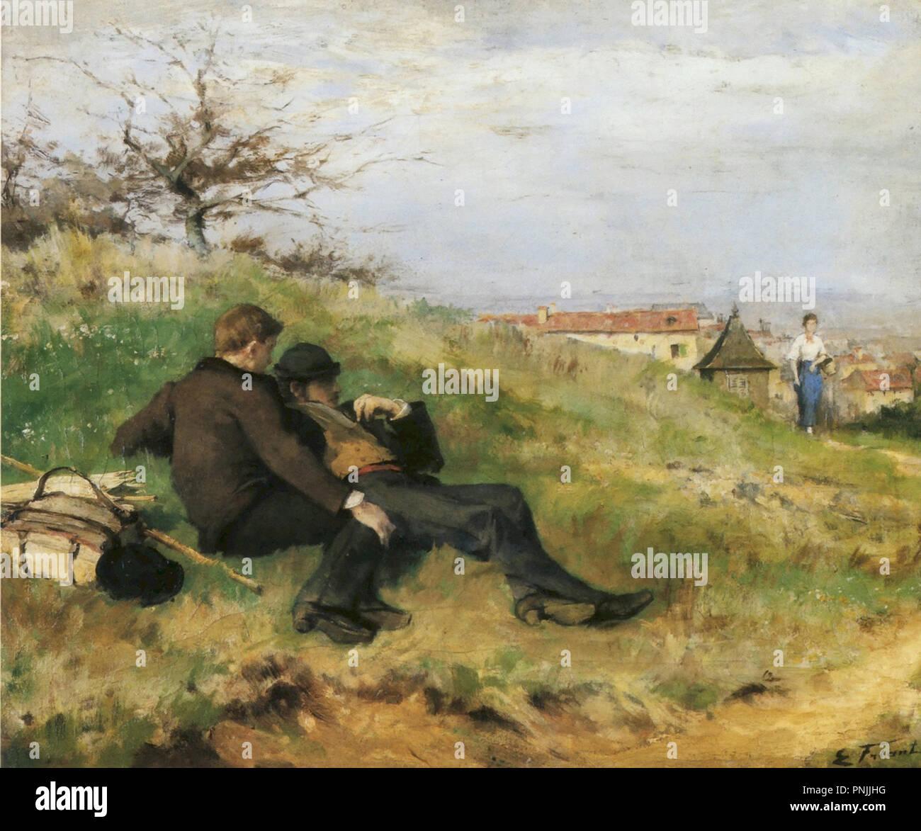 Friant  Emile - Le Repos Des Artistes - Stock Image