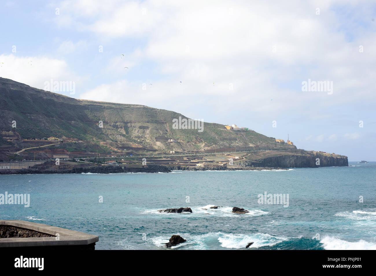 View from Mirador El Atlante famous place in Las Palmas, Gran Canaria, Spain Stock Photo